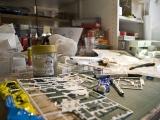 Ein Arbeitsplatz im Modellbau