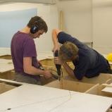 Montage der Deckplatten