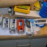 Pushbackbausätze in der Werkstatt