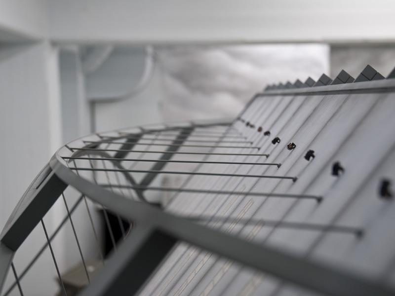 Der Bogen der Dachkonstruktion