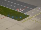 Die hochgestellten LEDs in der Draufsicht