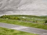 Linke Seite Start- und Landebahn