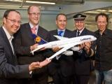 Vertreter des Wunderlandes, von Airbus und der Lufthansa