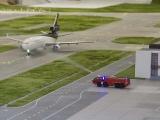 Begrüßung des neuen Flugzeuges